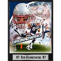 New England Patriots Rob Gronkowski Stat Plaque