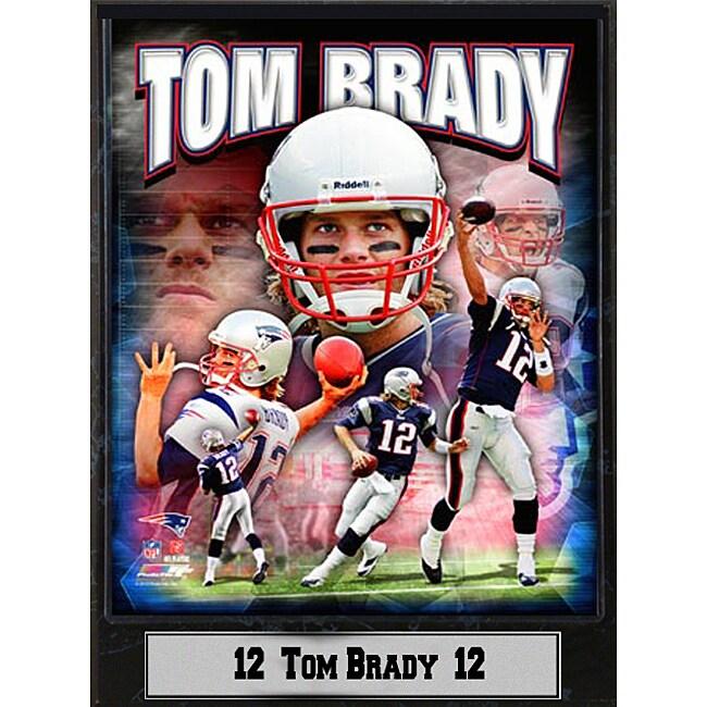 New England Patriots Tom Brady Stat Plaque 2