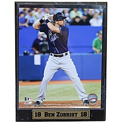 Tampa Bay Rays Ben Zobrist Stat Plaque