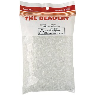 The Beadery 450-piece Faceted Crystal 10mm Beads