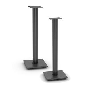 Atlantic Adjustable Bookshelf Black Speaker Stands (Set of 2)