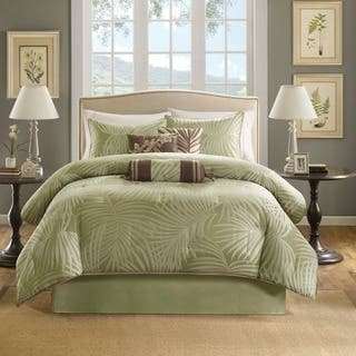 comforter hunter set bedding bed new brown icmultimedia cal queen co sage and white green