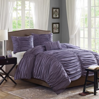 Madison Park Melrose Plum 4-piece Comforter Set
