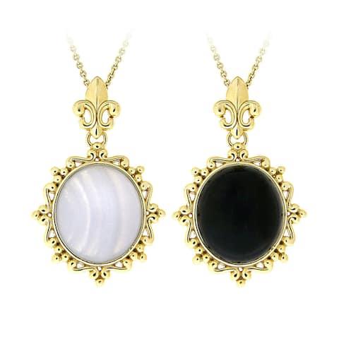 Glitzy Rocks Goldtone Bronze Onyx or Lace Fashion Necklace
