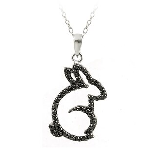 DB Designs Sterling Silver Diamond Accent Rabbit Necklace