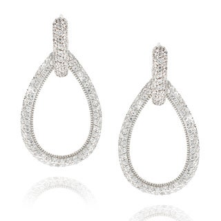 Icz Stonez Goldtone Cubic Zirconia Teardrop Dangle Earrings