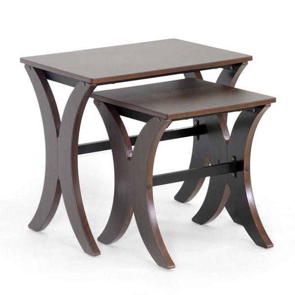 Xavier Brown MDF/ Steel Modern Nesting Table Set