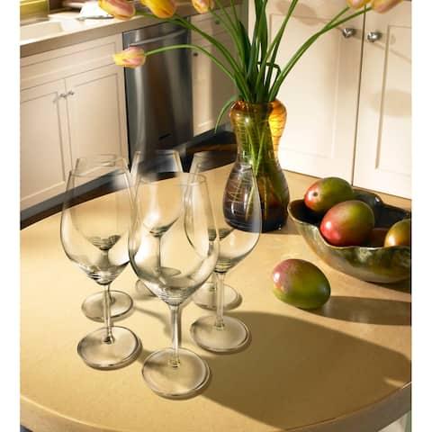 Illuminati 15 oz. Crystal White Wine Glasses (Pack of 6)