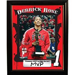 """Chicago Bulls Derrick Rose """"MVP"""" Deluxe Frame"""