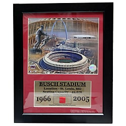 Bush Stadium Game Used Frame