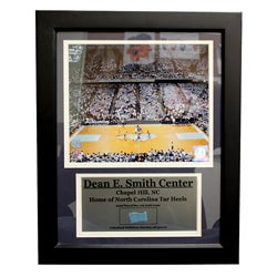 University of North Carolina Deluxe Game Used Frame
