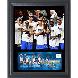 Dallas Mavericks 2011 NBA Champion Cachet Frame