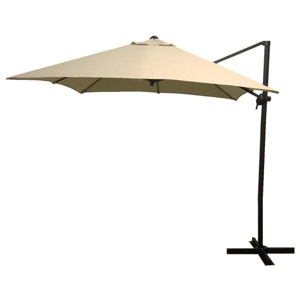 Elegant Antique Beige Square Steel Offset Umbrella