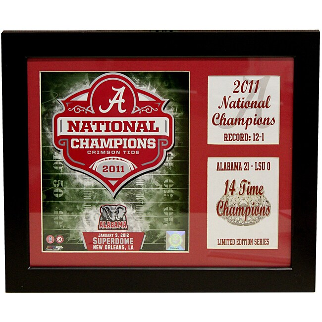University of Alabama 2011 National Champion Deluxe Stat Frame