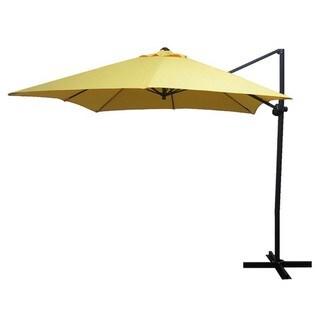 Escada Designs Elegant Sunflower Yellow 10x10 Offset Square Steel Umbrella