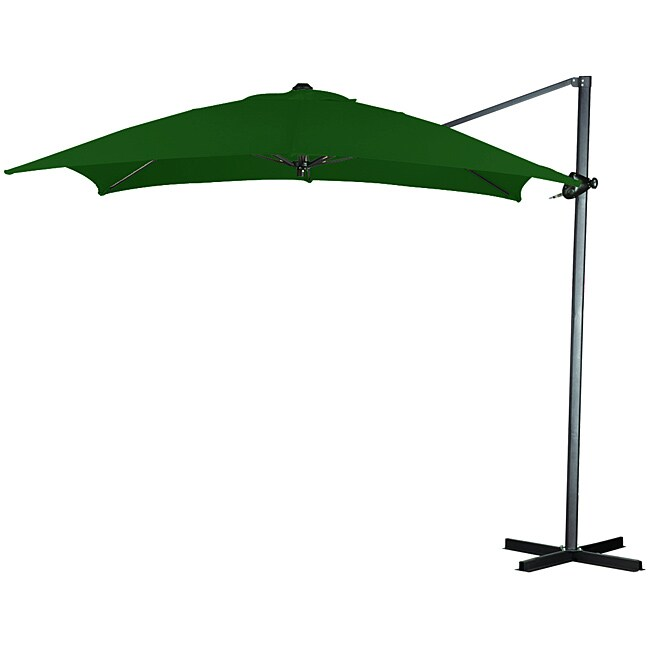Elegant Hunter Green 10x10 Offset Square Steel Umbrella