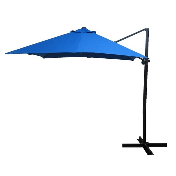 Elegant Pacific Blue Square Steel Offset Umbrella