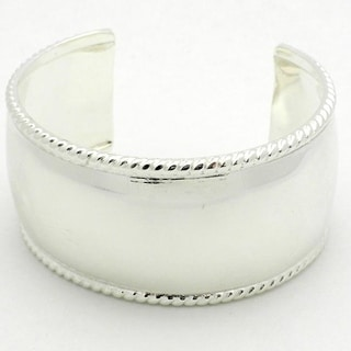 Handmade Silver Overlay Smooth Cuff Bracelet (Mexico)
