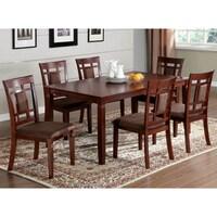 Furniture Of America Mulani 7 Piece Dark Cherry Dining Set