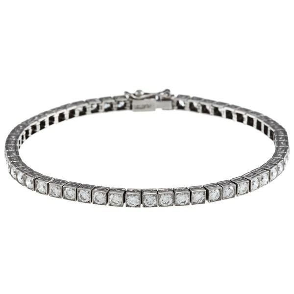 Pre-owned Platinum 5ct TDW Diamond Antique Tennis Bracelet (I-J, SI1-SI2)