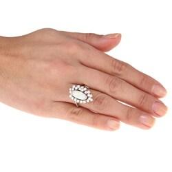 18k White Gold Opal and 1 1/4ct TDW Diamond Estate Ring (I-J, SI1-SI2) - Thumbnail 2
