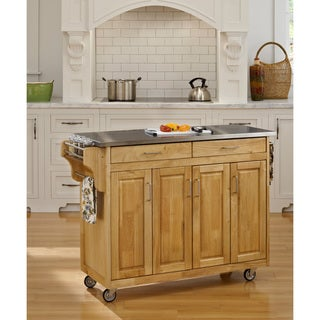 Create-a-Cart Natural Finish Stainless Top by Home Styles