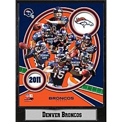 Denver Broncos 2011 Plaque