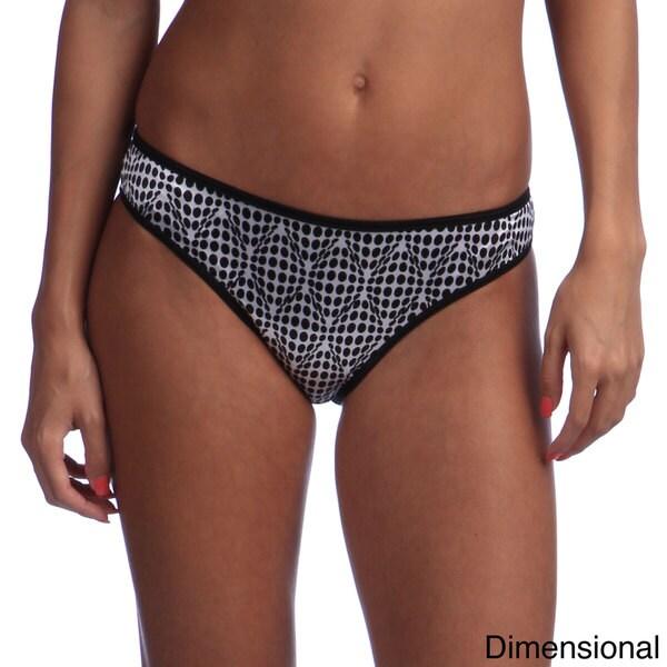 Ilusion Women's Printed Satin Bikini Panties