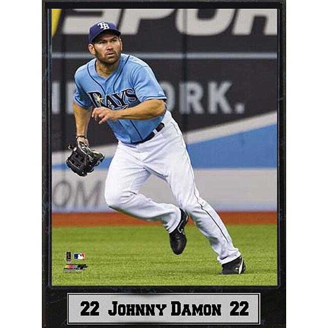 Tampa Rays Johnny Damon Stat Plaque