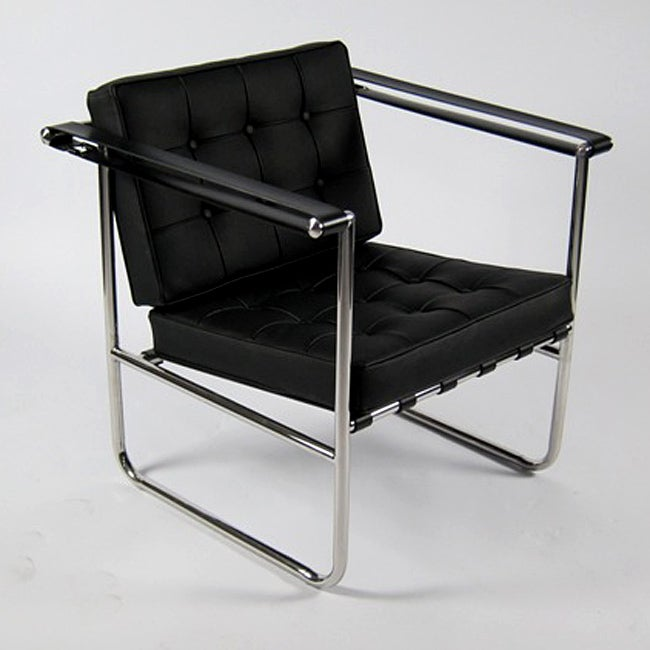 Shop Celona Black Leather Chair Free Shipping Today Overstock