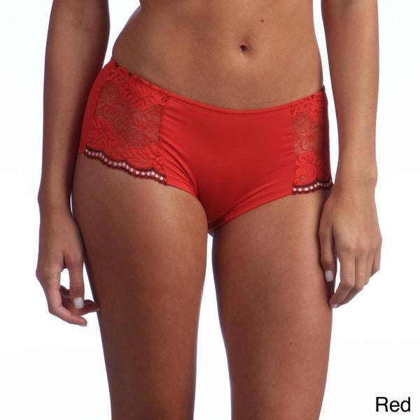 Ilusion Women's Lace Side Boyshort Panties