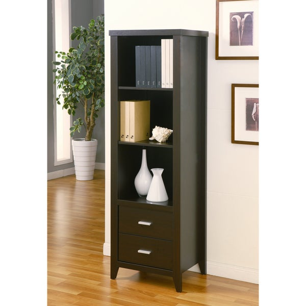 Furniture of America Cappuccino 3-shelf Display Stand/ Media Tower