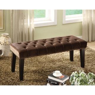 Furniture of America Bellen Button Tuft Bench