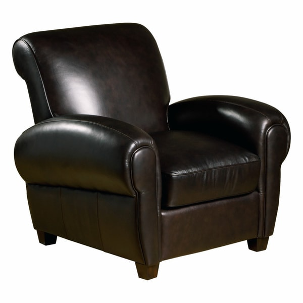 Marbella Leather Press Back Chair in Chocolate