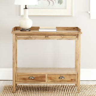 Safavieh York Pickled Oak Finish Console Table