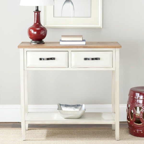 Safavieh Manchester White Console Table