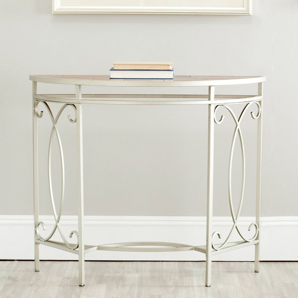Safavieh Vienne Silver Iron Console Table