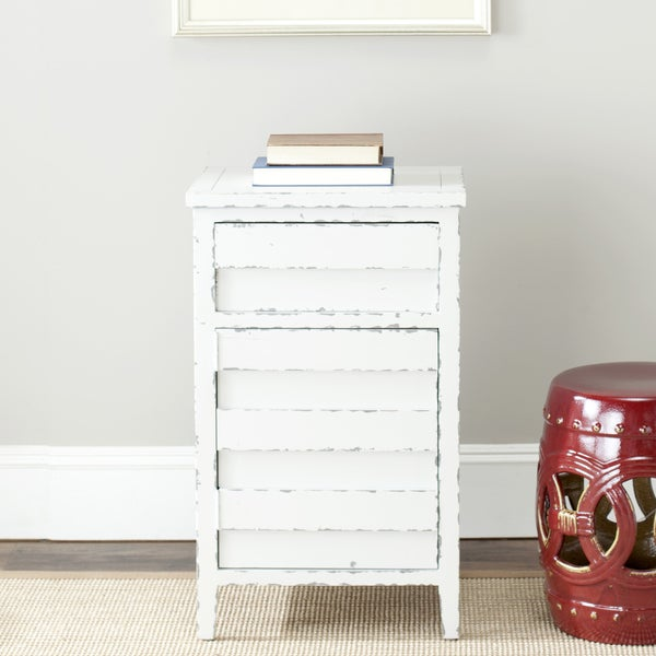 Safavieh Sete Antiqued White Storage Chest