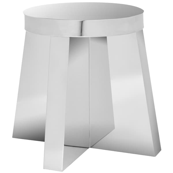 Safavieh Chic Modern Stainless Steel Round Stool
