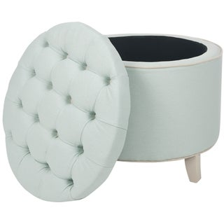 Safavieh Amelia Tufted Robin's Egg Blue Storage Ottoman
