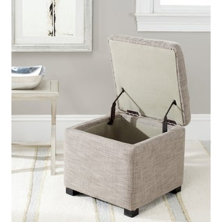 Safavieh Broadway Grey Viscose Storage Ottoman