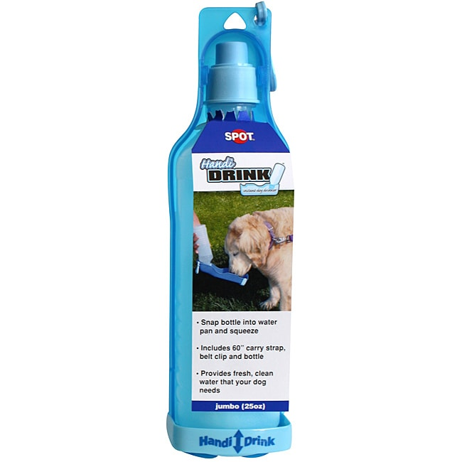 Ethical Pet Handi-Drink 25-ounce Instant Blue Dog Drinker Bottle