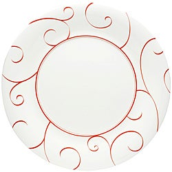 Red Vanilla Panache Rouge Dinner Plates (Set of 6)  sc 1 st  Overstock & Porcelain Plates For Less | Overstock
