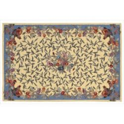 Nourison Hand-hooked Yellow Country Heritage Rug (3'6 x 5'6)