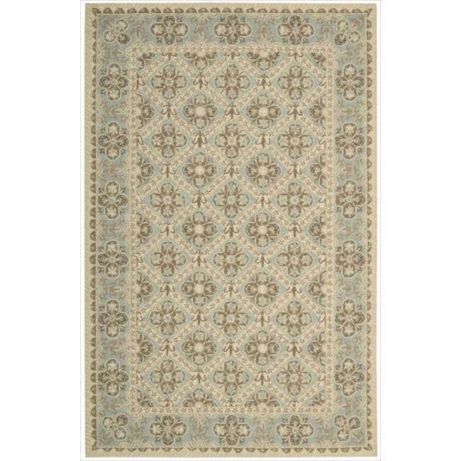 Nourison Hand-hooked Sky Blue Country Heritage Rug (3'6 x 5'6)
