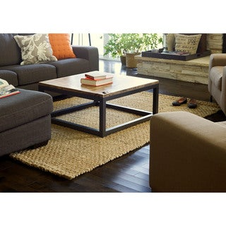 Jani Eclipse Basketweave Jute Rug (5' x 8')