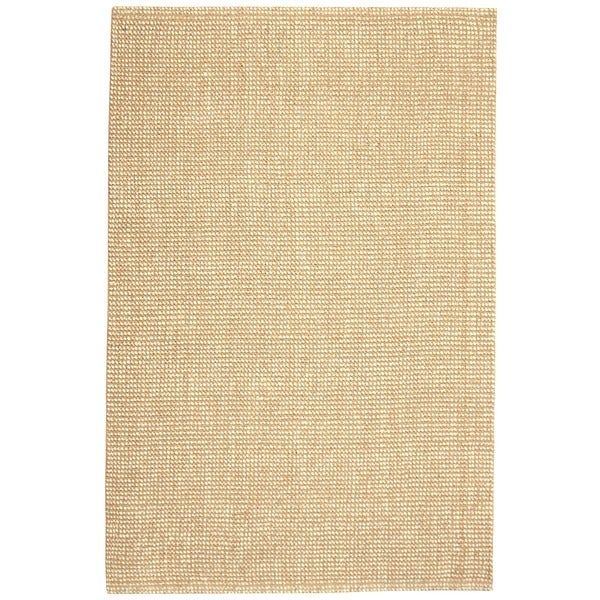 Jani Lhasa Natural Tan and Beige Wool and Jute Rug (4' x 6')
