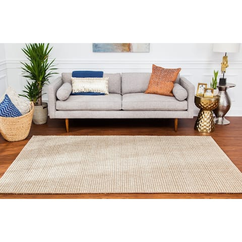 Jani Lhasa Ribbed Loop Wool and Jute Rug - 5' x 8'