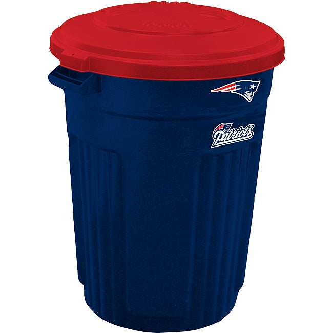 New England Patriots 32-gallon Trash Can