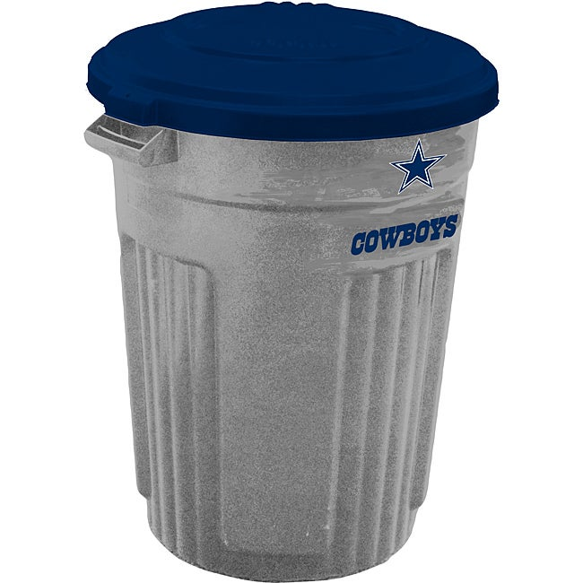Shop Dallas Cowboys 32 Gallon Trash Can Free Shipping